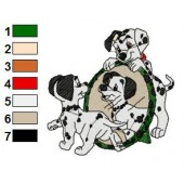 101 Dalmatians Embroidery Design 1