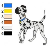 101 Dalmatians Embroidery Design 12