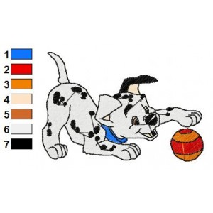 101 Dalmatians Embroidery Design 13