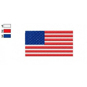 American Flag Embroidery Design 03