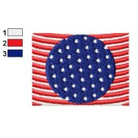 American Flag Embroidery Design 04
