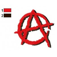 Anarchy Embroidery Design