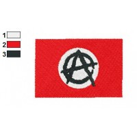Anarchy Flag Embroidery Design