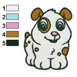 Baby Dog Embroidery Design 02