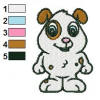 Baby Dog Standing Embroidery Design