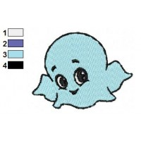 Baby Ghost Embroidery Design