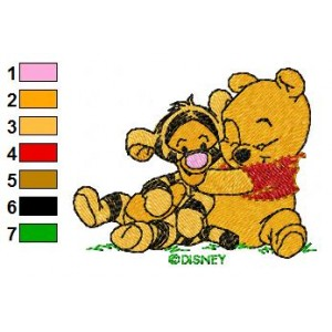 Baby Pooh and Friends Embroidery 14