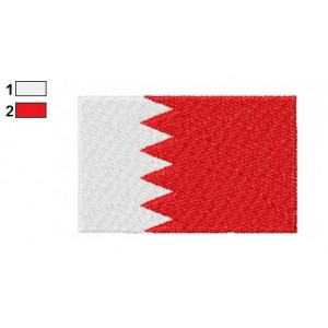 Bahrain Flag Embroidery Design