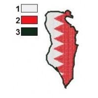 Bahrain Map Embroidery Design