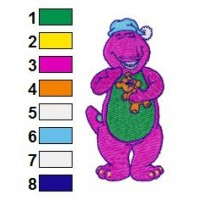 Barney Embroidery Design 1
