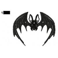 Bat Embroidery Design 02