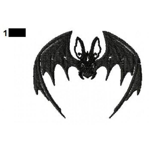 Bat Embroidery Design 02