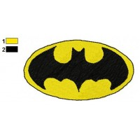 BatMan Logo Embroidery Design