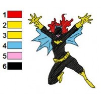 BatWoman Embroidery Design 2