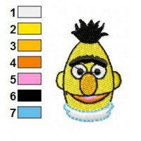 Bert and Ernie Embroidery Design 13