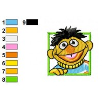 Bert and Ernie Embroidery Design 16