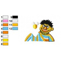 Bert and Ernie Embroidery Design 23