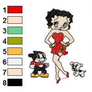 Betty Boop Disney Embroidery Designs 11