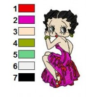 Betty Boop Disney Embroidery Designs 16