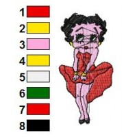 Betty Boop Embroidery Design 64