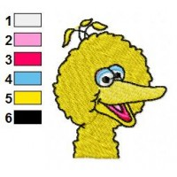 Bigbird Embroidery Design 1