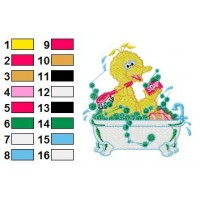 Bigbird Embroidery Design 13