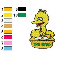 Bigbird Embroidery Design 2