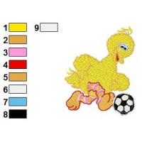 Bigbird Embroidery Design 3