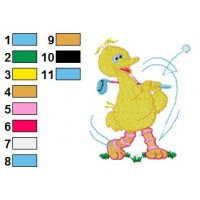 Bigbird Embroidery Design 4