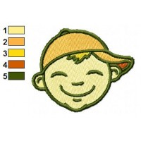 Boy Smiling Embroidery Designs
