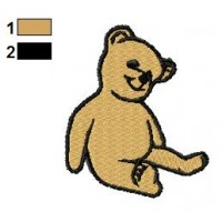 Brown Teddy Bear Embroidery Design 02