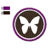 Butterfly Logo Embroidery Design 02