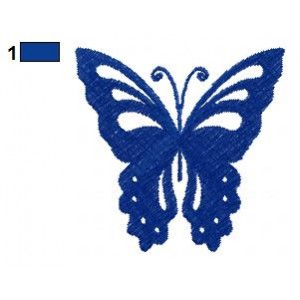 Butterfly Night Embroidery Design