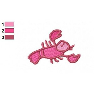Cartoon Crab Embroidery Design 02