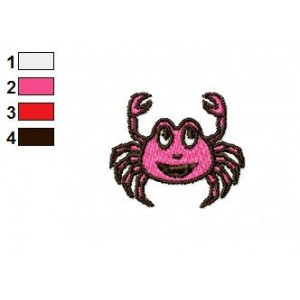 Cartoon Crab Embroidery Design 03