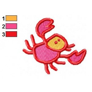 Cartoon Crab Embroidery Design