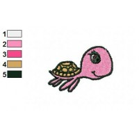 Cartoon Sea Turtle Embroidery Design