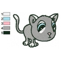 Cat Embroidery Design 02