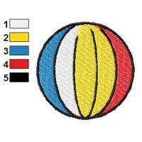 Colored Ball Embroidery Design