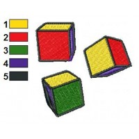 Cubes Toy Embroidery Design