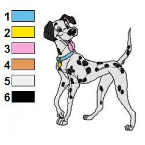 Dalmations Embroidery Design 1