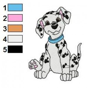 Dalmations Embroidery Design 10