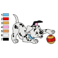 Dalmations Embroidery Design 13