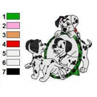 Dalmations Embroidery Design 20