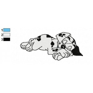 Dalmations Embroidery Design 3