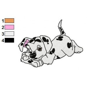 Dalmations Embroidery Design 4