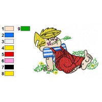 Dennis the Menace Embroidery Design 1