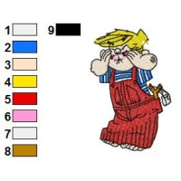 Dennis the Menace Embroidery Design 11