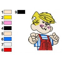 Dennis the Menace Embroidery Design 12