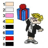 Dennis the Menace Embroidery Design 13